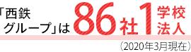 「西鉄グループ」は86社1学校法人